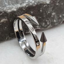 Женские кольца из стали Тип/Модель украшения Двойные купить №24