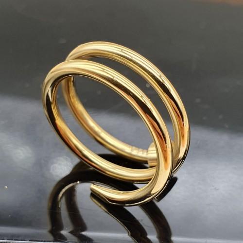 Кольцо из медицинской стали женское Золотой гвоздь