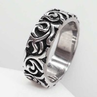Байкерское кольцо из медицинской стали Бандана