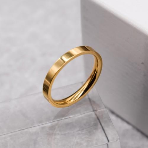 Кольцо обручальное ювелирная сталь американка золото 3 мм