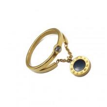 Кольцо с фианитом медицинское золото Гарем