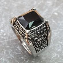 Кольцо-перстень из стали мужское Калиф