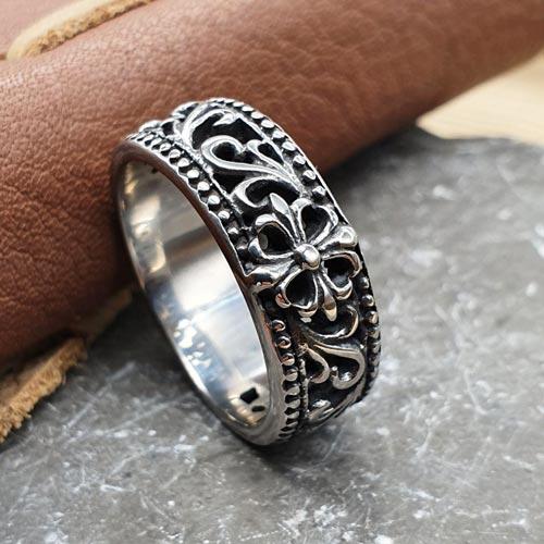 Байкерское кольцо из медицинской стали Розенкрейцер