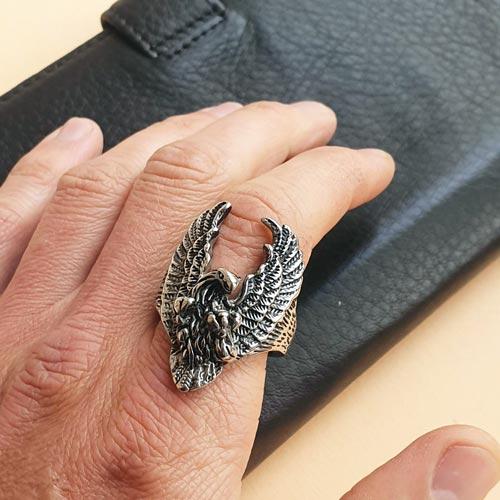 Кольцо из медицинской стали мужское Орел