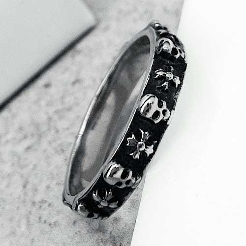 Байкерское кольцо из медицинской стали с черепом Левиафан
