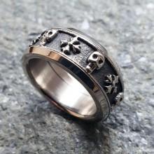 Мужские кольца из стали Тип/Модель украшения Антистресс купить №7