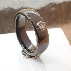 Кольцо из керамики с цирконием женское Эрато