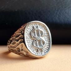 Байкерское кольцо из медицинской стали Дядя Сэм
