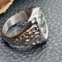 Байкерское кольцо из медицинской стали Дядя Сэм купить №2