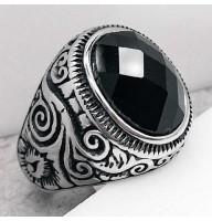 Кольцо-перстень из стали мужское Авиценна