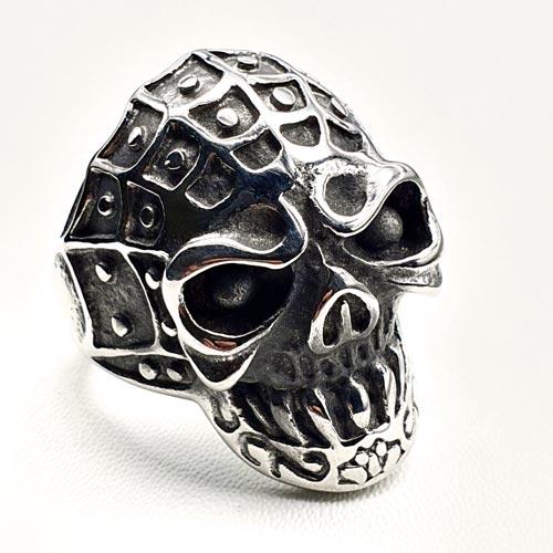 Байкерское кольцо из медицинской стали Череп 3,2 см