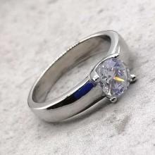 Красивое кольцо на помолвку из медицинской стали ла Белль