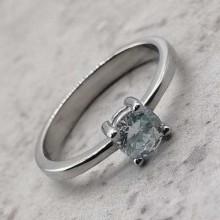 Помолвочное кольцо с круглым камнем Вдохновение