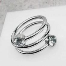 Кольцо стальное широкое женские кольца Змейка