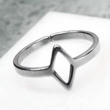 Кольцо фаланговое стальное для женщин Ромб