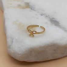 Фаланговое кольцо Бантик