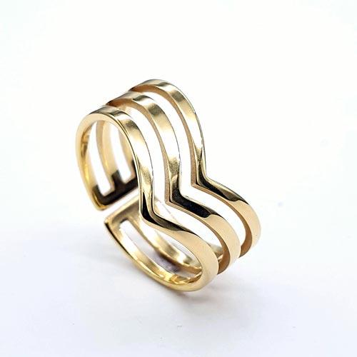 Кольцо из ювелирной стали женское Поликсена