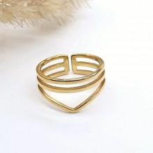 Кольцо из медицинского золота на фалангу женское Глория