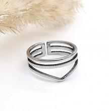 Кольцо из медицинской стали на фалангу женское Ламия