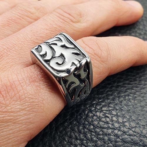 Байкерское кольцо из медицинской стали Триединство