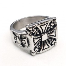 Байкерское кольцо-печатка из медицинской стали Великий магистр