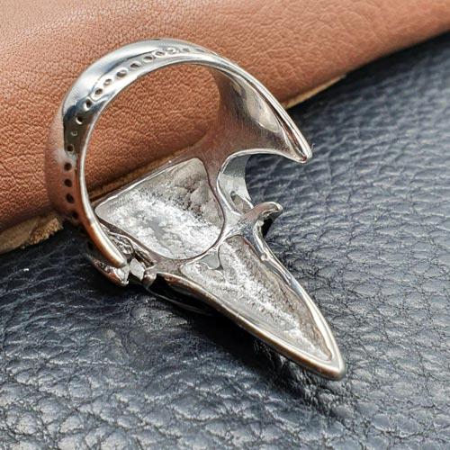 Байкерское кольцо из медицинской стали Ворон