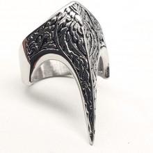 Стальное кольцо из медицинской стали Коготь дракона
