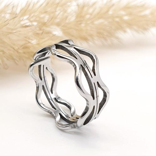 Кольцо на фалангу стальное Вендиго
