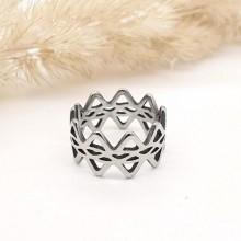 Кольцо на фалангу стальное Королева кубков