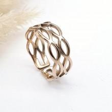 Кольцо на фалангу женское с PVD покрытием Купава