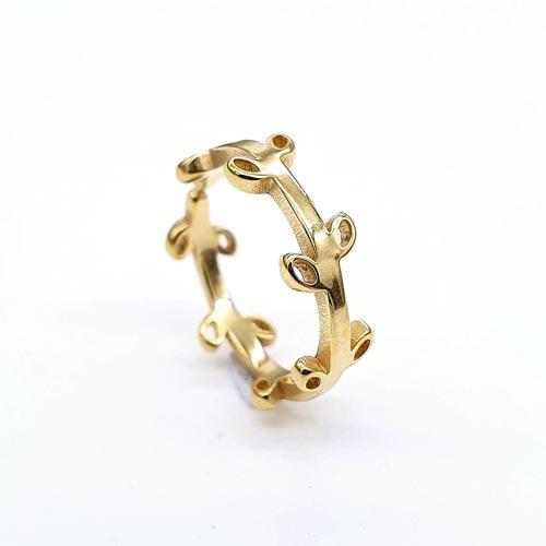 Кольцо на фалангу женское Венок