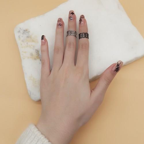 Кольцо из медицинской стали на фалангу женское Джун в двух цветах