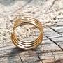 Кольцо из ювелирной стали на фалангу женское Веста