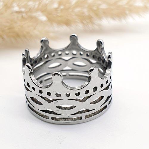 Кольцо из медицинской стали женское Корона