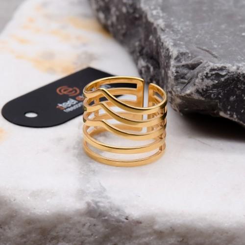 Кольцо из ювелирной стали женское Эридан