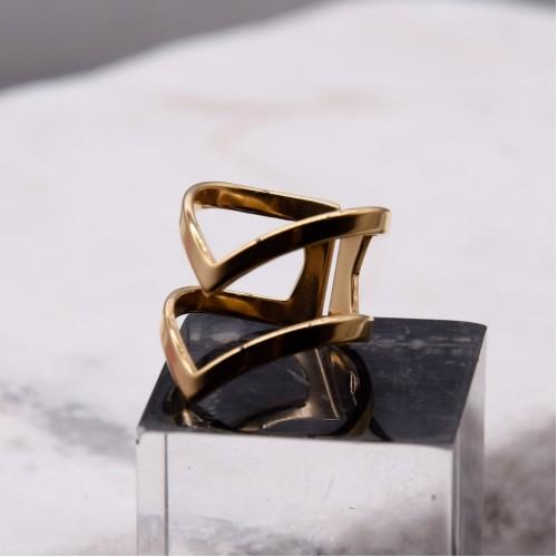 Кольцо из ювелирной стали женское Лира