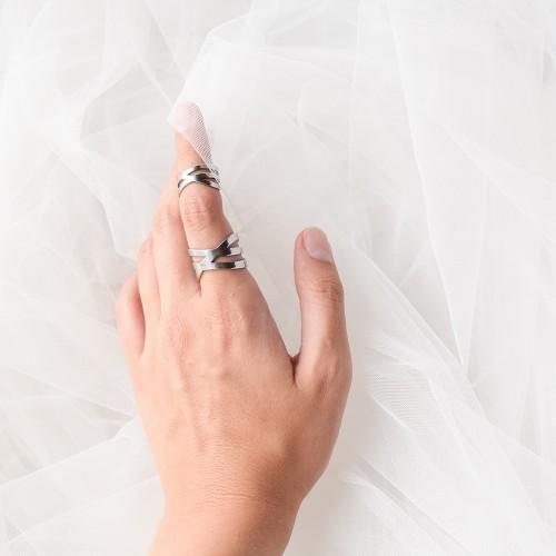 Кольцо из медицинской стали женское Октант