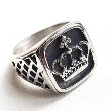 Кольцо печатка из медицинской стали Французская корона