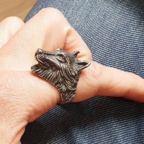 Байкерское кольцо из медицинской стали Взгляд волка