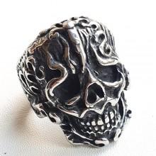Байкерское кольцо из медицинской стали Череп викинга