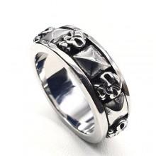 Мужские кольца из стали Тип/Модель украшения В стиле ROCK купить №1