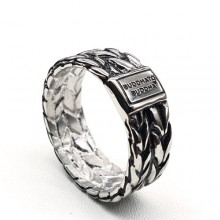 Стальное мужское кольцо с надписью Бесконечная красота