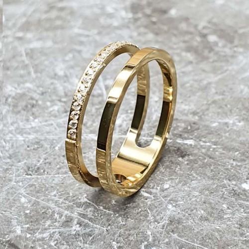 Стальное кольцо женское Манхэттен
