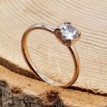 Помолвочное кольцо с круглым камнем Марион