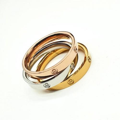 Наборное кольцо из ювелирной стали Триплет