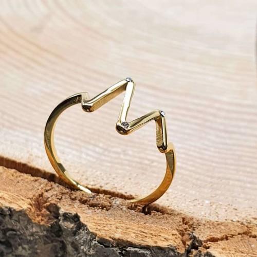 Оригинальное кольцо с циркониями Сауда