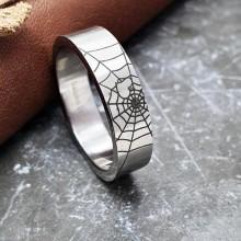 Эффектное стальное кольцо для мужчин Человек-паук