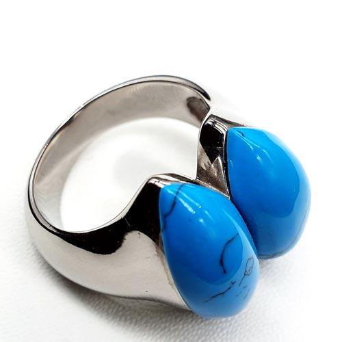 Женское кольцо из стали Глаза гюрзы