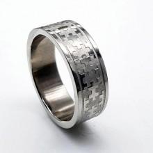 Кольцо металлическое из медицинской стали Пазлы