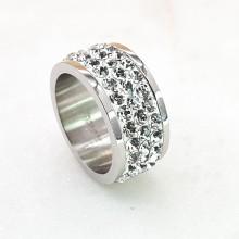 Женское кольцо с белыми кристаллами Swarovski